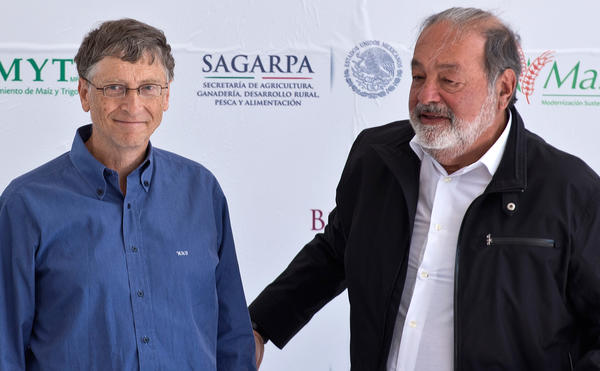 Topping Forbes' list of the world's wealthiest individuals is Carlos Slim, right, a telecommunications mogul from Mexico with a reported net worth of $73 billion. Tech mogul Bill Gates, left, came in second place, with a net worth of $67 billion.