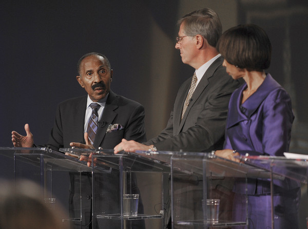 Pictures: Baltimore City Mayoral candidates debate - Answering question
