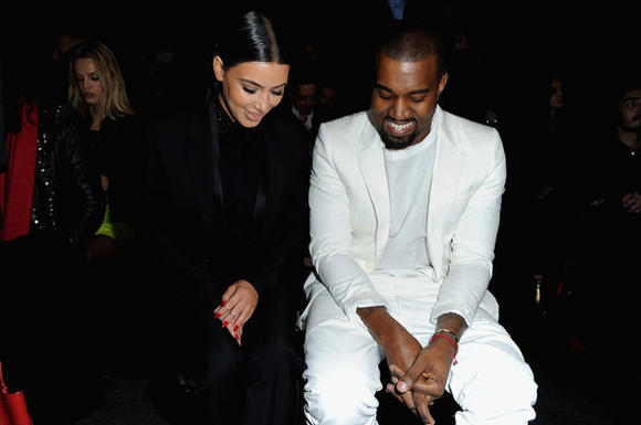 Kim Kardashian, Kanye West at Givenchy show
