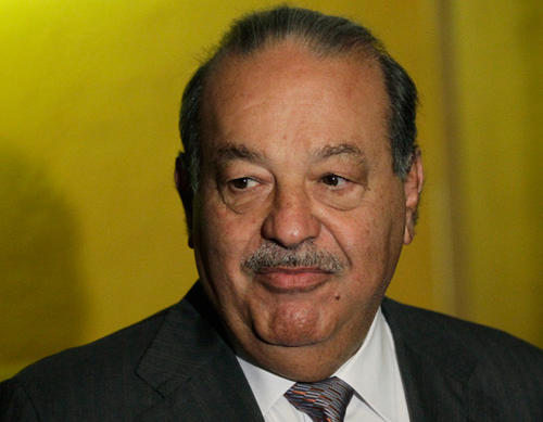 Mexican telecommunications tycoon Carlos Slim, pictured here in Mexico City in July 2012, is worth more than $73 billion.