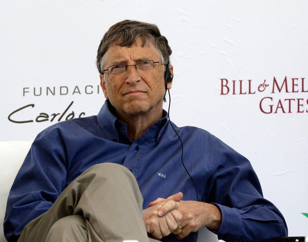 Microsoft founder and philanthropist Bill Gates, pictured here after taking part in the inauguration of a new research facility at the International Maize and Wheat Improvement Center in Mexico City on Feb. 13, is worth more than $67 billion.