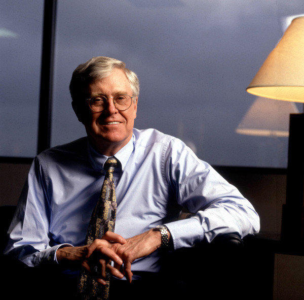 Charles Koch, co-owner, chairman of the board, and chief executive officer of Koch Industries Inc, is worth a reputed $34 billion.