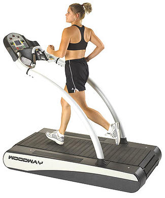 <b>Woodway Desmo S</b>: Ultra-durable treadmill with one-of-a-kind design.<br> <br> <b>Likes</b>: Smooth, durable, technologically advanced, stunning looks. Patented design (used by pro football teams) resembles tank treads, with a chain of rubberized slats circling around an oval rail track (not a fabric belt rolling over a wooden deck, like a standard treadmill). The motor is tucked inside the tread belt, so your foot cannot hit it. It's faster and steeper than anything else: 12.5 mph (upgradeable to 18 mph), and 15% incline (upgradeable to 22% and a negative incline of – 3%).<br> <br> <b>Dislikes</b>: The five-figure price. (Just as solid, but not as attractive, is the entry-level Path at $7,000.) Requires an AC cord (not self-generating).   Price: $10,330. 800-WOODWAY; www.woodway.com.
