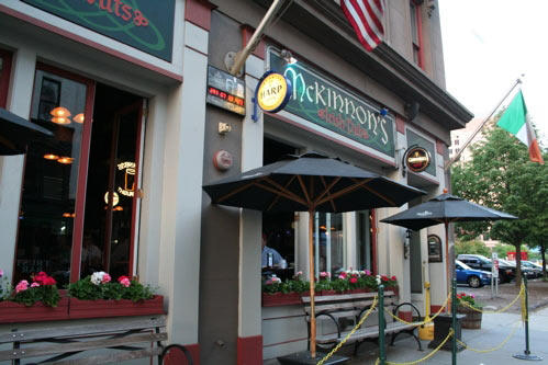 "<a href=""http://findlocal.courant.com/downtown-hartford/bars-and-clubs/irish-bar/mckinnons-irish-pub-hartford-bar"">McKinnon's</a> offers an almost-anything-goes attitude that patrons have to come to expect from this traditional Irish pub."