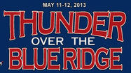 Organizers announced the cancellation of the Thunder Over the Blue Ridge air show Monday, citing the loss of the U.S. Air Force Thunderbirds' performance as the reason for the decision.