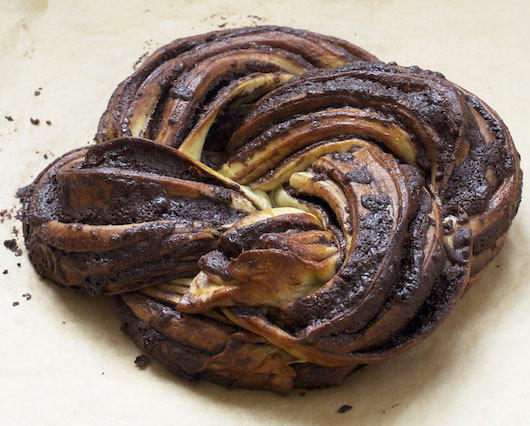 Chocolate yeast cake.
