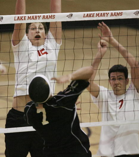 Lake Mary and Cas Kiersnowski are ranked No. 2 behind Lyman in the first boys volleyball Super Six this season. (Stephen M. Dowell, Orlando Sentinel)