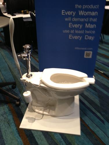 John Embler of Oakland Park created the iLift Loo Seat, a device that allows you to lift the toilet seat without having to touch it.