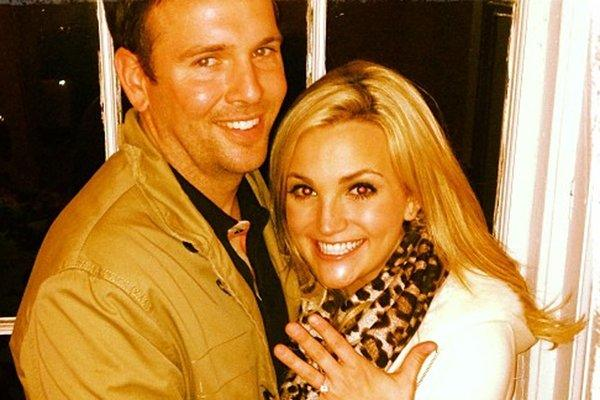 Jamie Watson, left, and Jamie Lynn Spears are engaged, the aspiring country singer announced Sunday.
