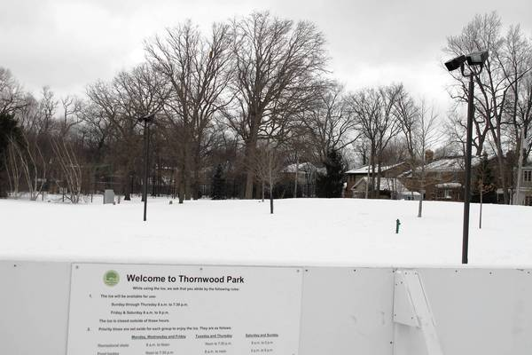 Park officials will discuss possible improvements for the Thornwood ice rink, now closed after a short season of use, after receiving some complaints about the lights and noise.
