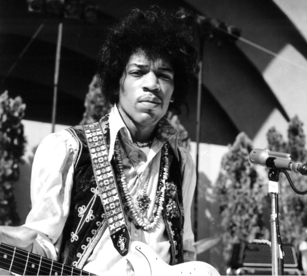 "Jimi Hendrix, pictured rehearsing at the Hollywood Bowl in 1967, has an album of previously unreleased studio recordings, ""People, Hell and Angels,"" coming out March 5."