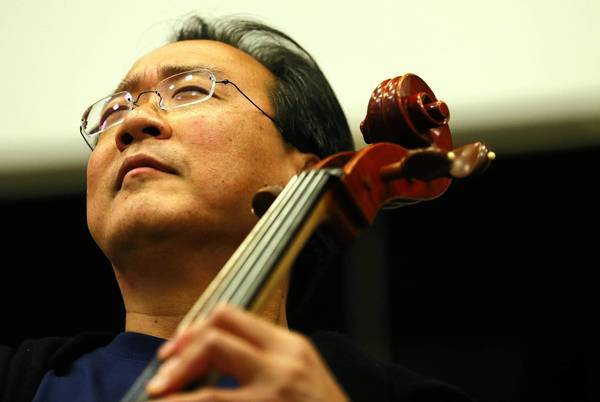 Cellist Yo-Yo Ma performs the Prelude to Bach's Suite No. 1 in G Major for Chicago Public School students.