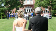 A ceremony at The Kentlands mansion in Gaithersburg, Md.