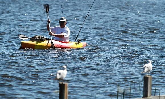 Kayaking in Lake Ida Park in Delray Beach.