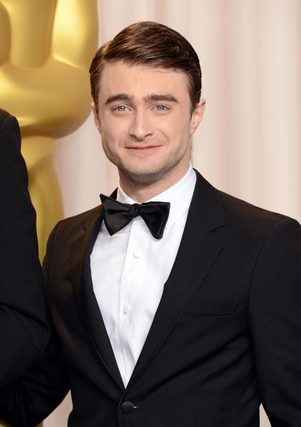 "Actor <a class=""taxInlineTagLink"" id=""PECLB005296"" title=""Daniel Radcliffe"" href=""/topic/entertainment/movies/daniel-radcliffe-PECLB005296.topic"">Daniel Radcliffe</a> poses in the press room during the <a class=""taxInlineTagLink"" id=""EVHST000005"" title=""Academy Awards"" href=""/topic/entertainment/movies/academy-awards-EVHST000005.topic"">Oscars</a> held at Loews Hollywood Hotel on February 24, 2013 in Hollywood, California."