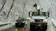With a winter storm watch in effect and the possibility of several inches of snow Tuesday into Wednesday in Central Maryland, officials at Baltimore Gas and Electric have put out a call for up to 500 out-of-state utility workers to be prepared to help in the aftermath of the storm.