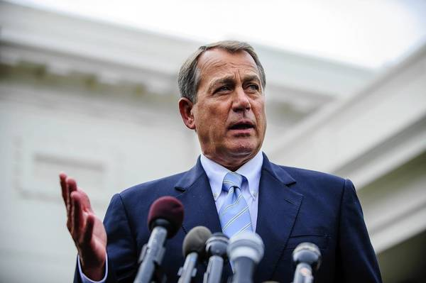 House Speaker John Boehner talks to the media after a meeting with President Obama last week.