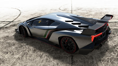 The Lamborghini Veneno, unveiled at the Geneva Motor Show, is loosely based on the Aventador. Its 6.5-liter V-12 makes 750 horsepower and Lamborghini says it will do zero-60 mph in 2.8 seconds. The car costs $3.9 million, and only three will be made. All three have already been sold to customers.