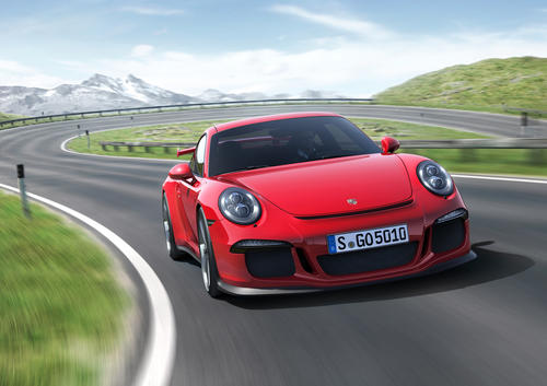 The 2014 Porsche 911 GT3 is the most powerful naturally-aspirated car the company makes. It has 475 horsepower and will do zero-60 mph in 3.3 seconds. It debuted at the 2013 Geneva Motor Show.