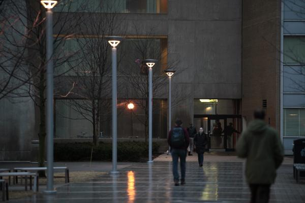 At the Massachusetts Institute of Technology, students make their way to classes in January.