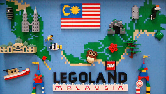 A Lego mural created for the new Legoland Malaysia park.