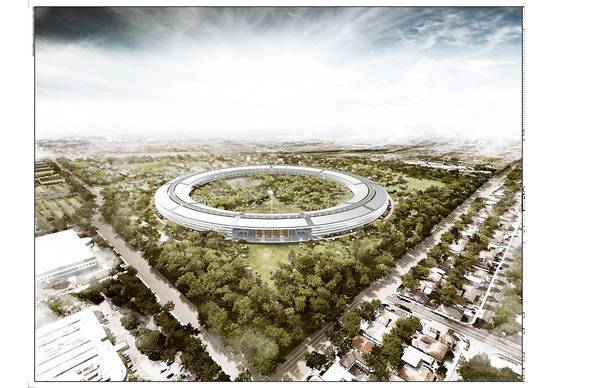 Apple's new Cupertino, Calif., headquarters is to hold 12,000 workers in 2.8 million square feet and open in 2016.