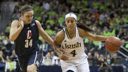 SOUTH BEND, Ind. (AP) -- Skylar Diggins found another way to beat Connecticut - maybe the toughest way yet.