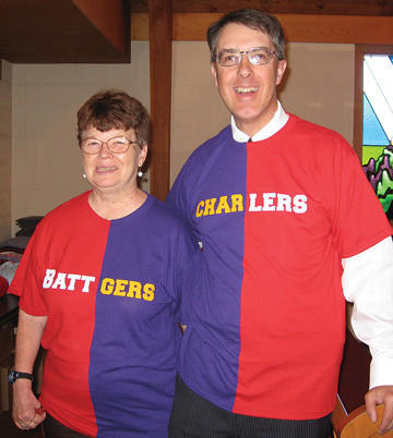 Couple supports both teams