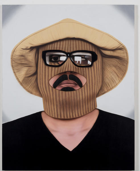 "Mario Ybarra Jr., ""Invisible Man...,"" 2012, acrylic on canvas, 60 x 48."