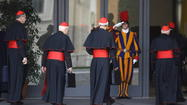 The College of Cardinals held its first general meeting Monday morning since the resignation of Pope Benedict XVI, but the cardinals did not choose a start date for the conclave from which the next pope will emerge.
