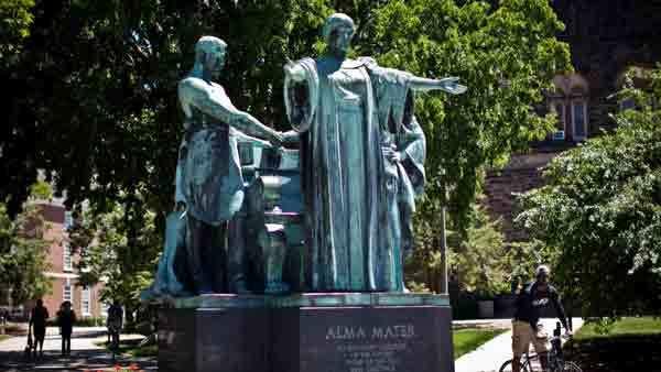 The University of Illinois' Alma Mater statue.