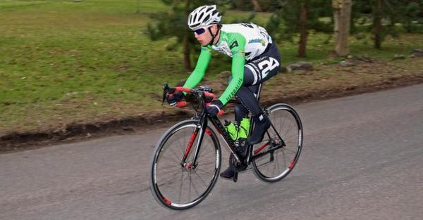 Junior Heffernan competes in the Severn Bridge Road Race on Sunday.