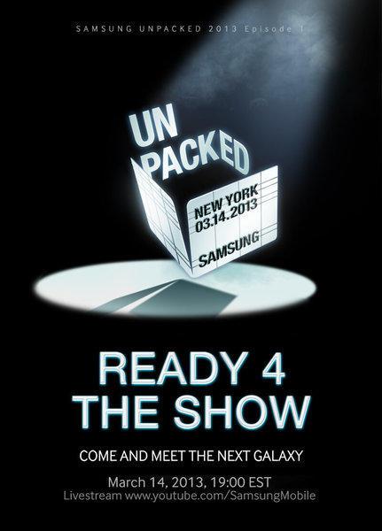 Teaser art for Samsung's Galaxy S IV announcement.