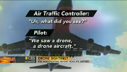 The FAA is investigating an airline pilot's report of a drone over JFK airport.