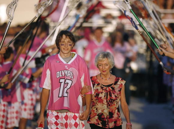 "Olympia will hold its second annual ""Pink and White Game"" on Monday."