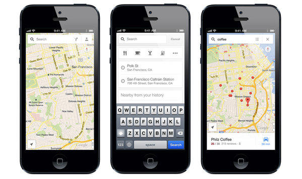 The update is the first major one by Google for its iPhone Maps app.