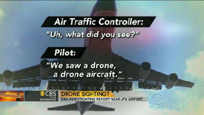 FAA investigating report of drone aircraft over JFK airport