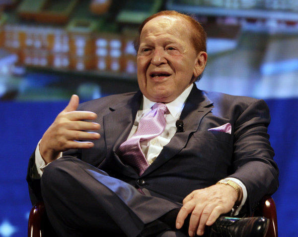 Sheldon Adelson, chairman and CEO of Las Vegas Sands Corp., at the 2008 opening of the Four Seasons Hotel in Macau.