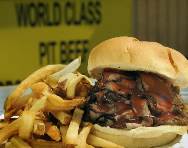 In 2012, Food Network's 50 best sandwiches in the U.S. included Pioneer Pit Beef in Windsor Mill, 1600 N. Rolling Road.
