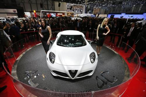Alfa Romeo 4C at the 83rd Geneva International Motor Show.