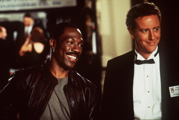 "Eddie Murphy and Judge Reinhold from ""Beverly Hills Cop III"""