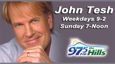 The John Tesh Radio Show is now on 97.5 the Hills