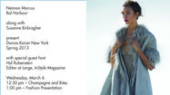 """In Style"" magazine's Hal Rubenstein presents Donna Karan spring collection"
