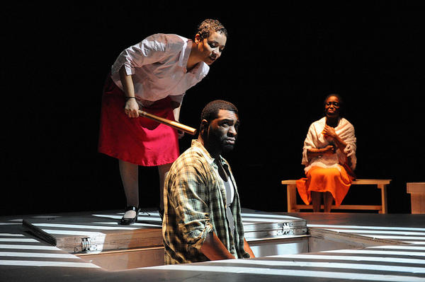 Fatima Quander, Robert Lee Hardy and Felicia Curry in 'Home' at Rep Stage