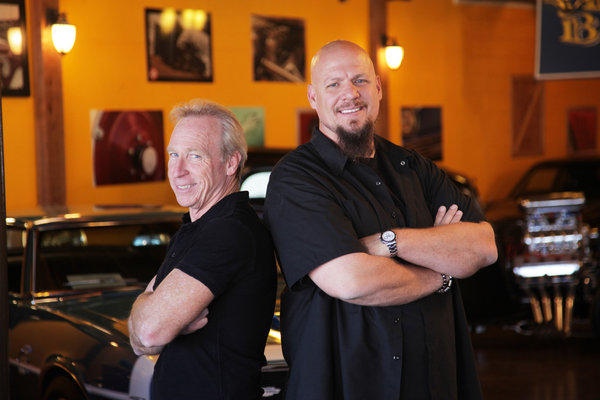 "Perry Barndt, left, and Jeff Allen star in CNBC's new reality series, ""Car Chasers."""