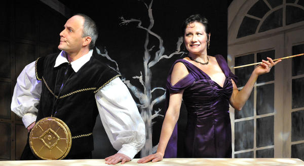 Steve Carpenter and Valerie Leonard star in The Actors Nightmare a one-act play paired with a second offering, Sister Mary Ignatius Explains It All for You, in the current production at Bay Theatre in Annapolis.