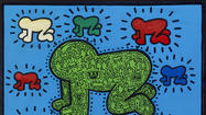 Keith Haring pop-up art exhibit in Miami's Design District