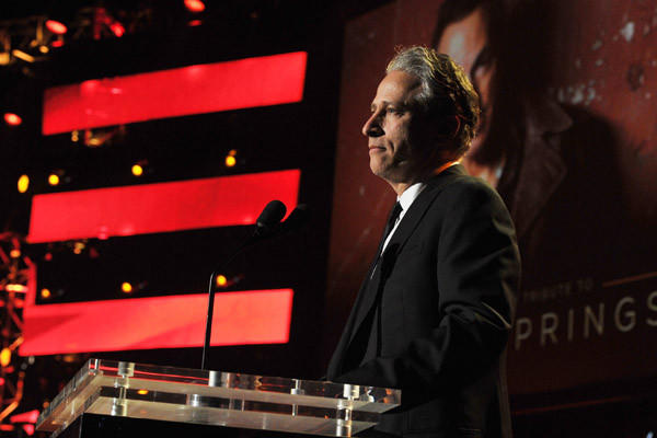 Jon Stewart, shown at the 64th Annual Primetime Emmy Awards, will direct his first feature film.
