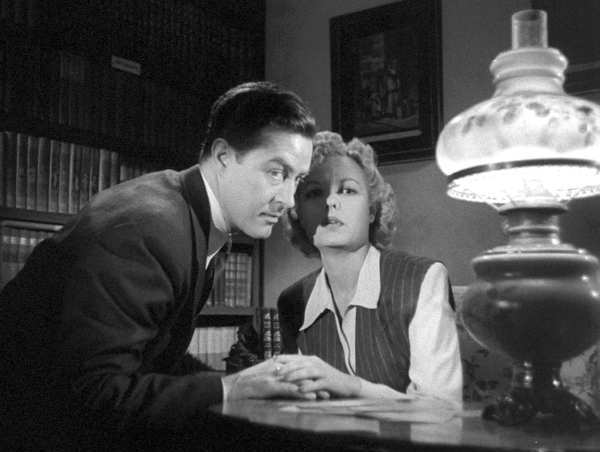 "Ray Milland and Marjorie Reynolds in Fritz Lang's 1944 adaptation of Graham Greene's thriller ""Ministry of Fear,"" now out on DVD."