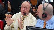 ESPN's Dick Vitale said today that the impending snowstorm expected to hit the Baltimore-Washington region means he won't be able to travel north as planned for the network's broadcast of Wednesday night's Maryland-North Carolina game at Comcast Center.